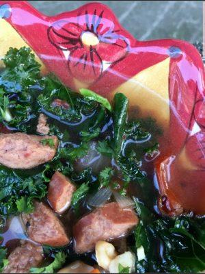 Instant Pot Kale Sausage Soup