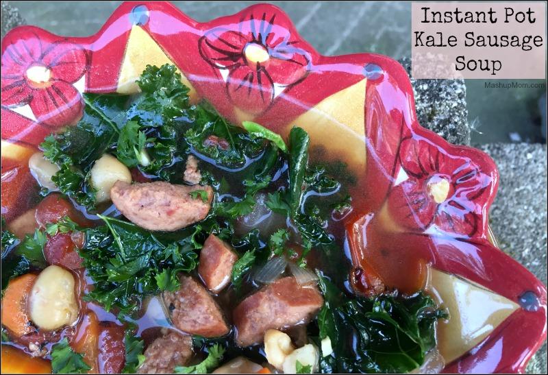 Instant Pot Kale Sausage Soup -- an easy recipe!