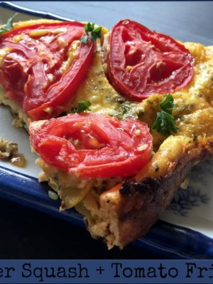 Summer Squash + Tomato Frittata — Low Carb, Gluten Free!