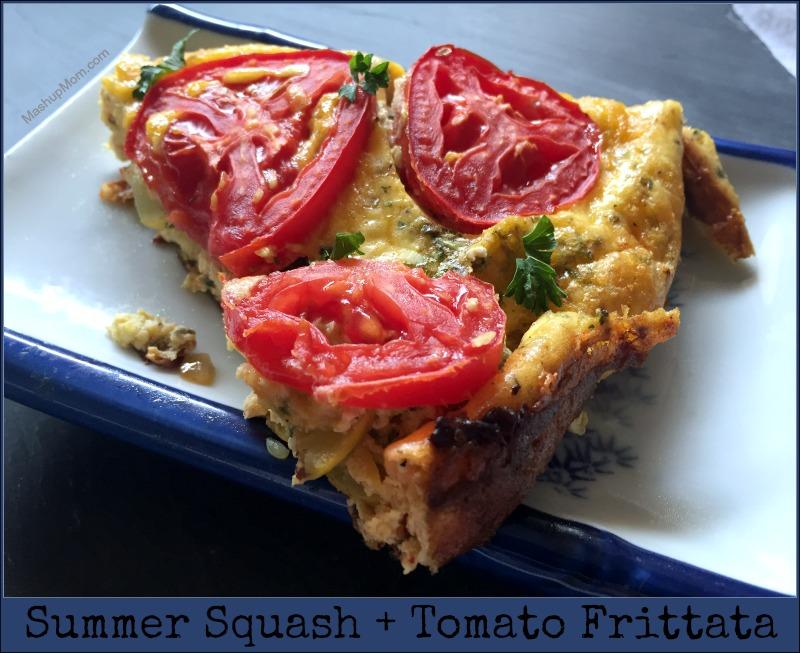 summer squash + tomato frittata