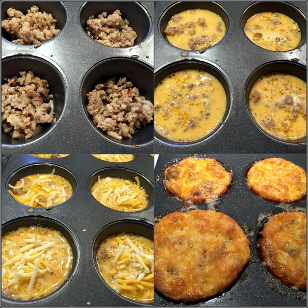 Easy low carb breakfast sausage egg muffins are also gluten free!