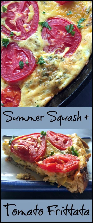 summer squash + tomato frittata recipe