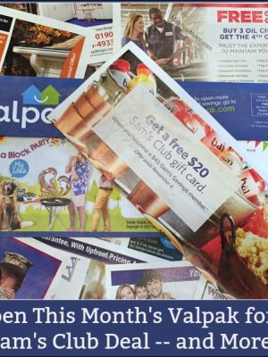 Open This Month's Valpak for a Sam's Club Deal — And More!