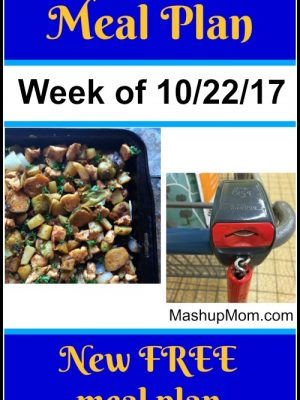 Free ALDI Meal Plan week of 10/22/17 – 10/28/17