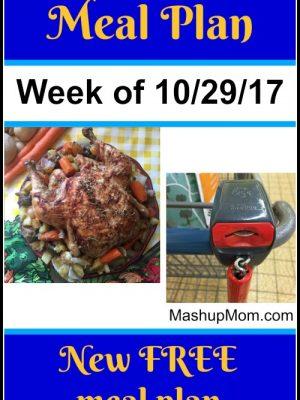 Free ALDI Meal Plan week of 10/29/17 – 11/4/17