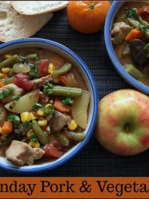 Lazy Sunday Pork & Vegetable Stew