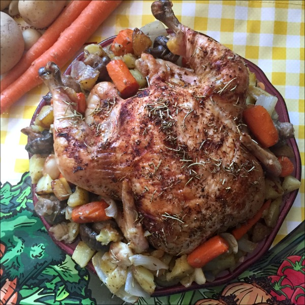Simple Roast Chicken and Vegetables is an easy comfort food dinner idea -- Try this savory one-pan meal today!