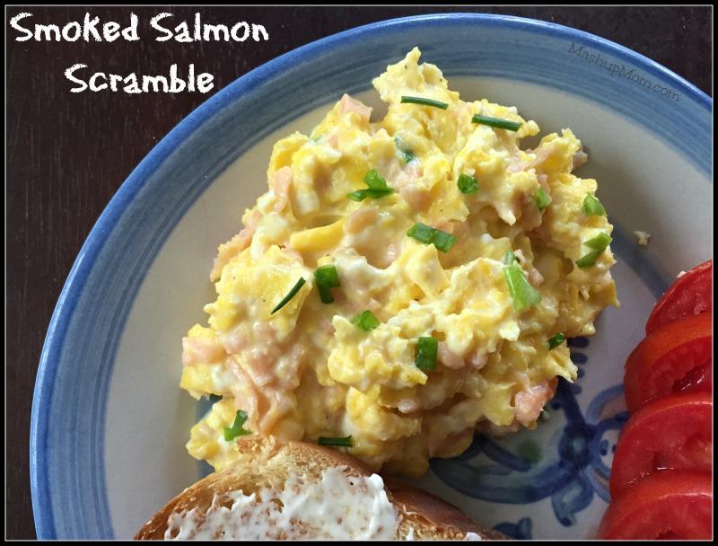smoked salmon scramble