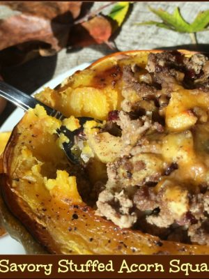 Sweet & Savory Stuffed Acorn Squash Dinner