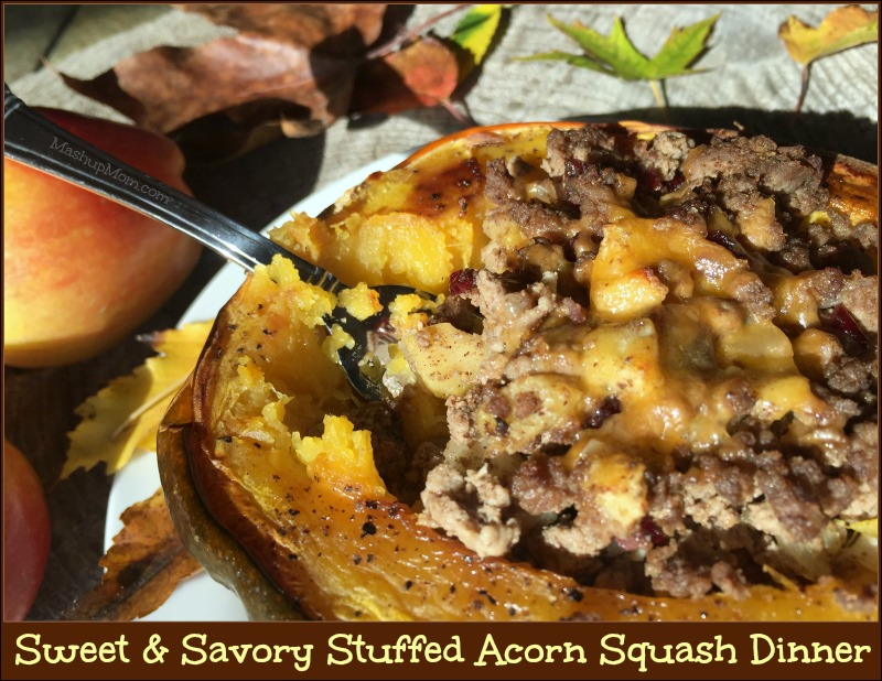 This sweet & savory stuffed acorn squash dinner is naturally gluten free, and features all of the flavors of fall in just one recipe.
