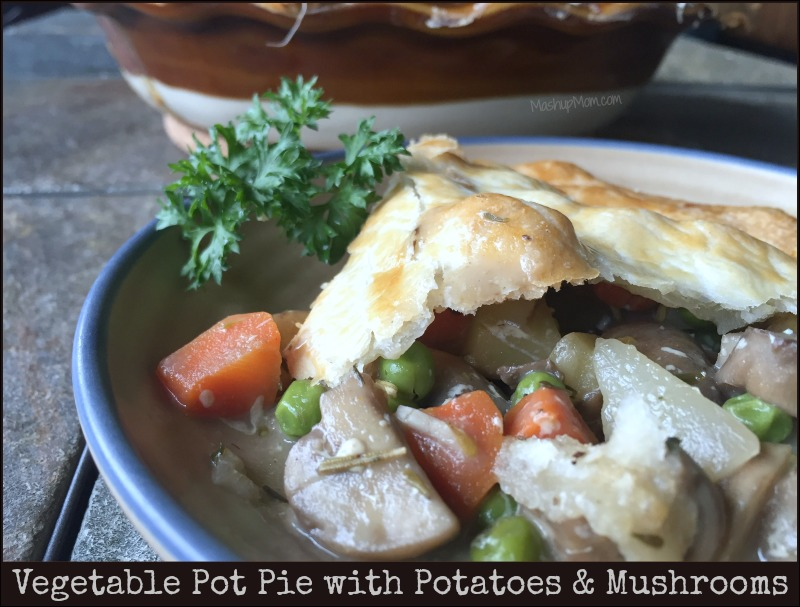 Vegetarian pot pie is so comforting, filling, and flavorful -- on Pi Day or any day!