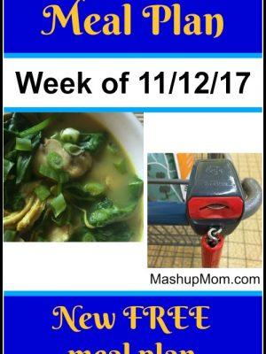 Free ALDI Meal Plan week of 11/12/17 – 11/18/17
