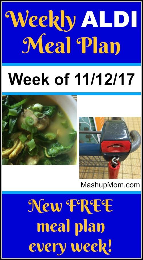 free ALDI meal plan November 2017