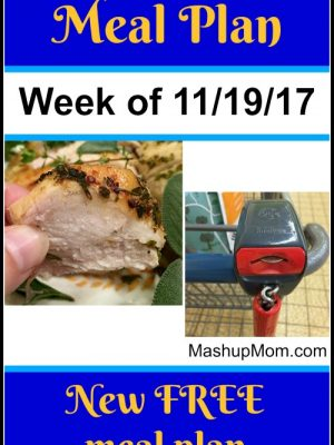 Free ALDI Meal Plan week of 11/19/17 – 11/25/17
