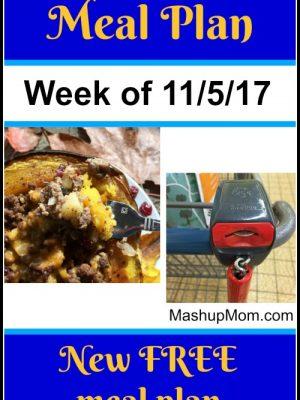 Free ALDI Meal Plan week of 11/5/17 – 11/11/17