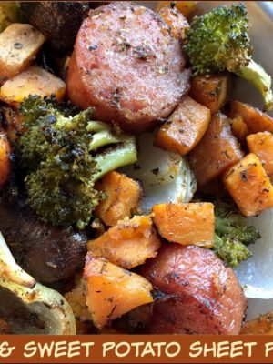 Sausage & Sweet Potato Sheet Pan Dinner