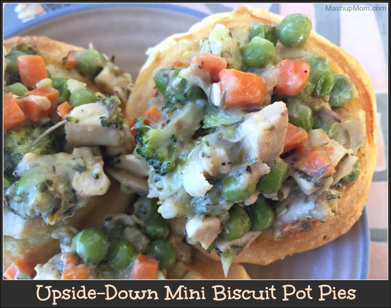 upside-down mini biscuit pot pies