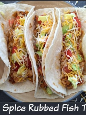 Easy Spice Rubbed Fish Tacos
