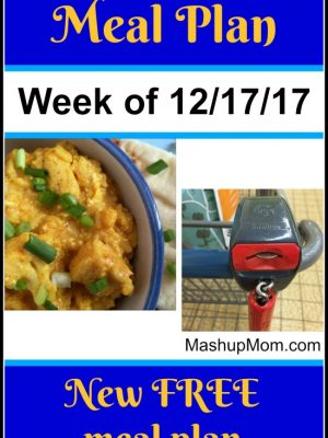 Free ALDI Meal Plan week of 12/17/17 – 12/23/17