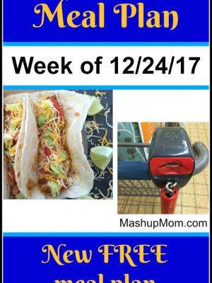 Free ALDI Meal Plan week of 12/24/17 – 12/30/17