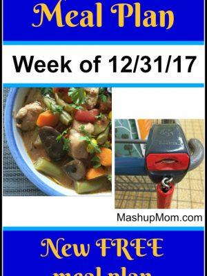 Free ALDI Meal Plan week of 12/31/17 – 1/6/18