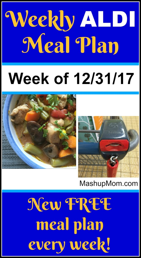 Looking for a free ALDI Meal Plan December 2017? Here's this week's ALDI meal plan for the week of 12/31/17. Find new free ALDI meal plans every week, and save time + money with meal planning!