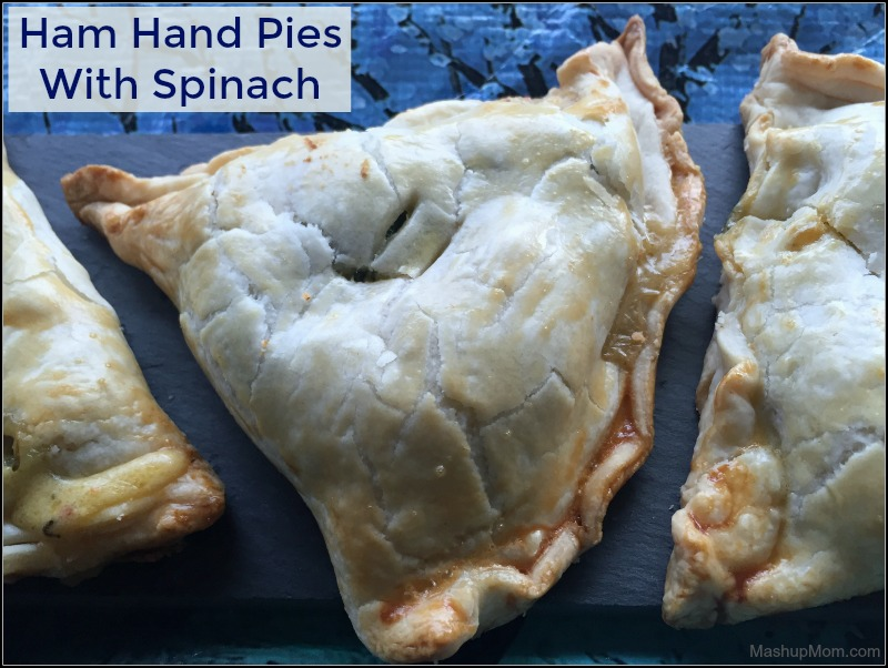 Even though you're taking a short cut with the pre-made pie crust, these ham hand pies with spinach are so much tastier and more filling than a frozen Hot Pocket. Ham hand pies are really the quintessential comfort food; the creamy, slightly tangy filling goes so well with the flaky buttery-tasting crust!