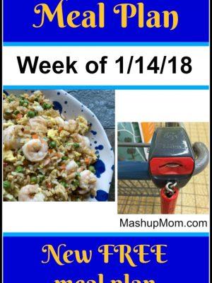 Free ALDI Meal Plan week of 1/14/18 – 1/20/18