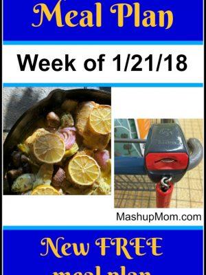 Free ALDI Meal Plan week of 1/21/18 – 1/27/18