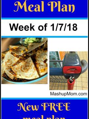 Free ALDI Meal Plan week of 1/7/18 – 1/13/18