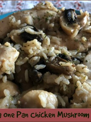 Thyme for a One Pan Chicken Mushroom Rice Skillet