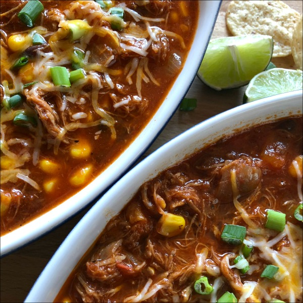 Leftovers recipe time! The sweet pepper and corn balance out the slight heat from the chipotle in this Comforting Carnitas Stew: This easy recipe with leftover carnitas gives you all the smoky warmth and flavor you're looking for in this sort of dish, with only a mild level of spice.