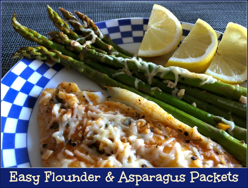 easy flounder & asparagus packets go well with the roasted carrots