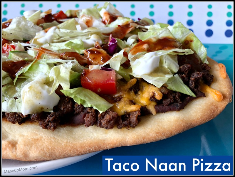 taco naan pizza -- customize with your own toppings