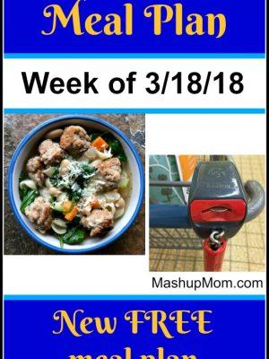 Free ALDI Meal Plan Week of 3/18/18 – 3/24/18