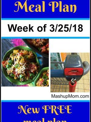 Free ALDI Meal Plan week of 3/25/18 – 3/31/18