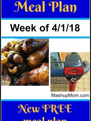 Free ALDI Meal Plan week of 4/1/18 – 4/7/18