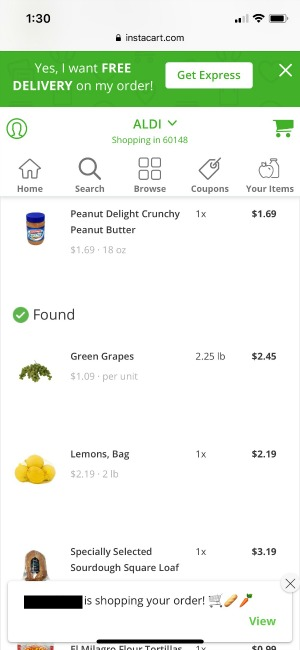 ALDI is now on Instacart -- and I tried it!