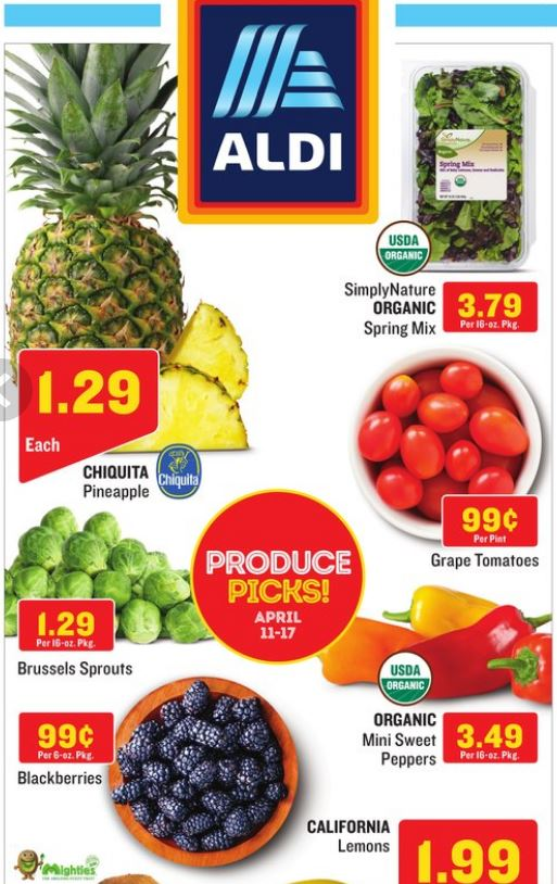 aldi produce sales
