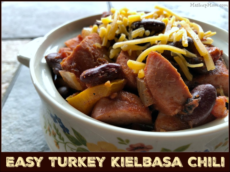 Try this Easy Turkey Kielbasa Chili (Gluten Free and Lower Fat!) the next time you're looking for a different comfort food twist on your usual chili recipes. Doing a smoked sausage chili gives you a flavor reminiscent of sausage, peppers, and onions -- but with a definite chili kick.