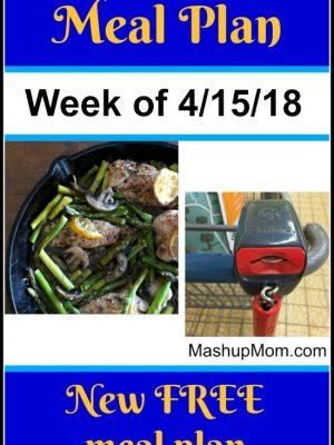 Free ALDI Meal Plan week of 4/15/18 – 4/21/18
