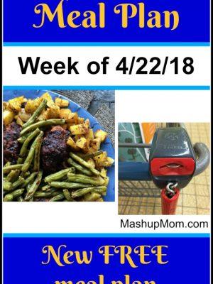 Free ALDI Meal Plan week of 4/22/18 – 4/28/18