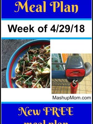 Free ALDI Meal Plan week of 4/29/18 – 5/5/18
