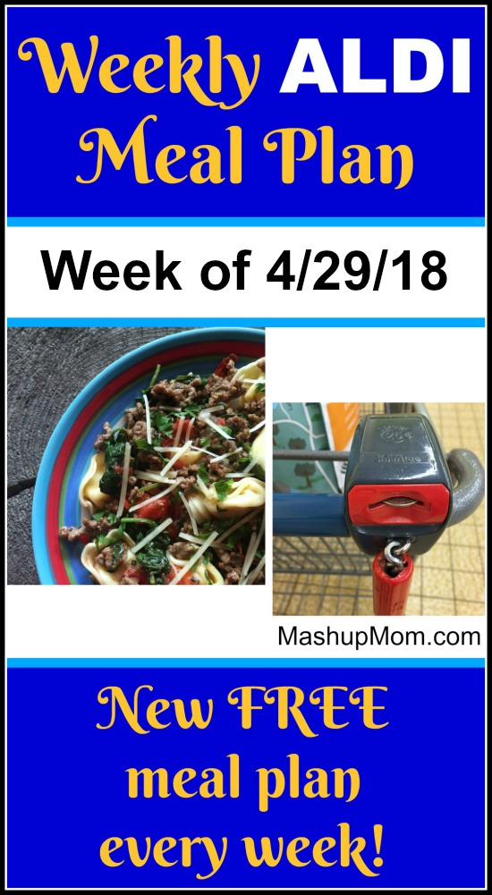 It's the last ALDI meal plan for April 2018 -- Free ALDI Meal Plan week of 4/29/18 - 5/5/18: Six complete dinners for four, $60 out the door! Save time and money with meal planning, and find new free ALDI meal plans each week.