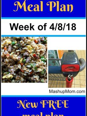 Free ALDI Meal Plan week of 4/8/18 – 4/14/18