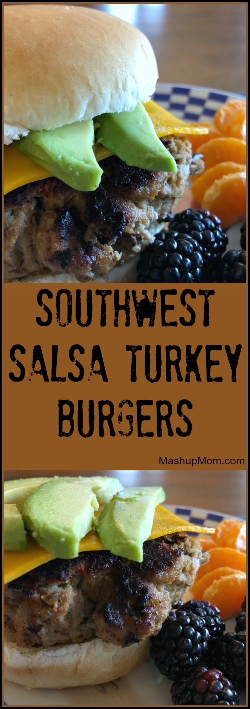 Give these juicy & flavorful Southwest salsa turkey burgers a try the next time you're looking for a different take on your basic burgers: This 25 minute weeknight dinner recipe is super simple, and comes together in a flash!