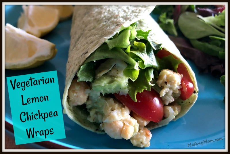 vegetarian lemon chickpea wraps