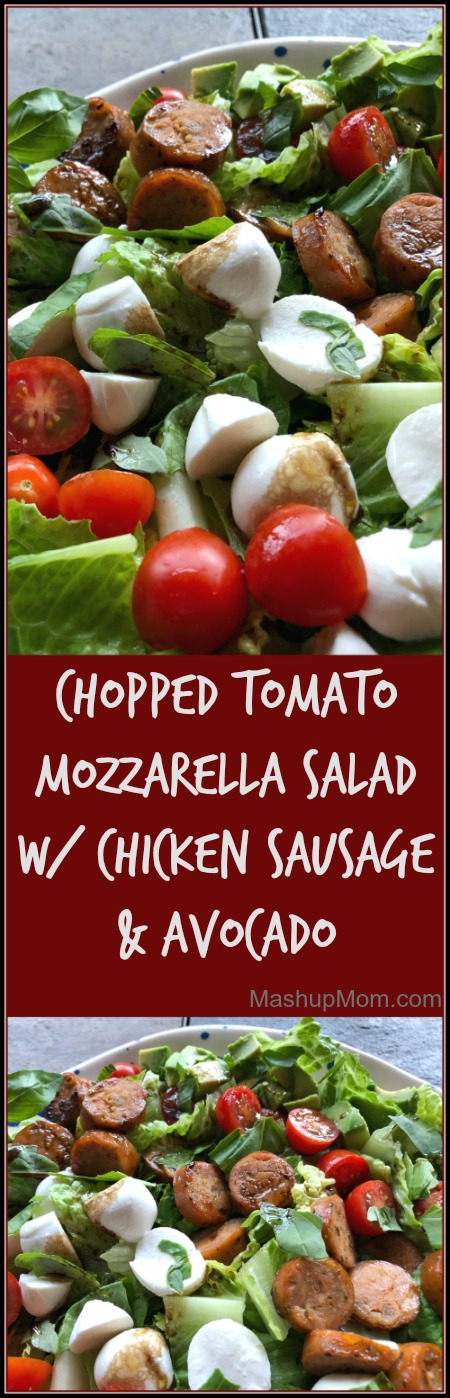 Easy chopped tomato mozzarella salad