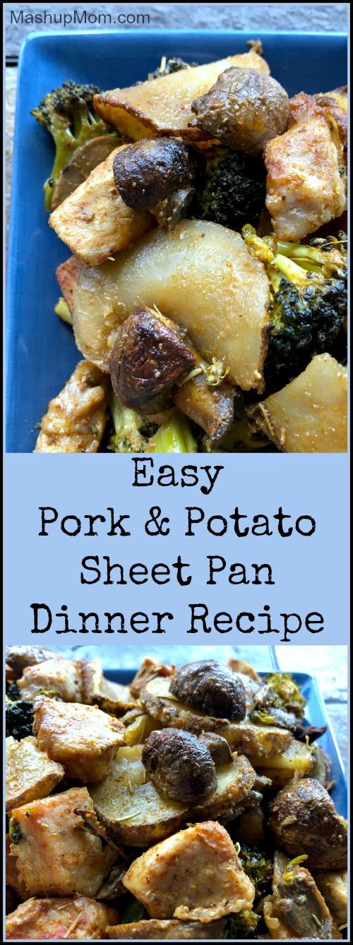 pork & potato sheet pan dinner recipe