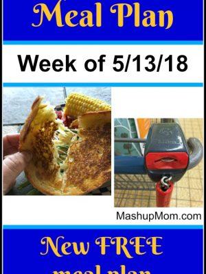 Free ALDI Meal Plan week of 5/13/18 – 5/19/18